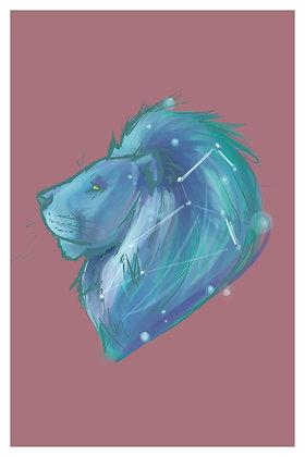 Lion Constellation - 4 x 6 Print