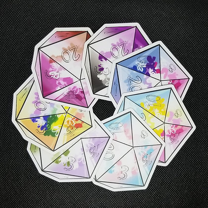 LGBTQ Dice Stickers
