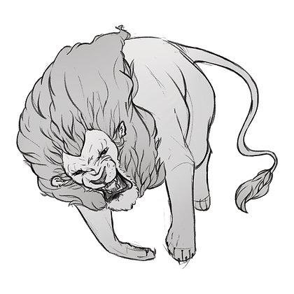 Lion - 6 x 6 Print