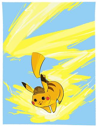 Detective Pikachu - 5 x 7 Print