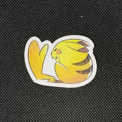Sleepy Female Pikachu Sticker