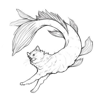 Catfish - 6 x 6 Print