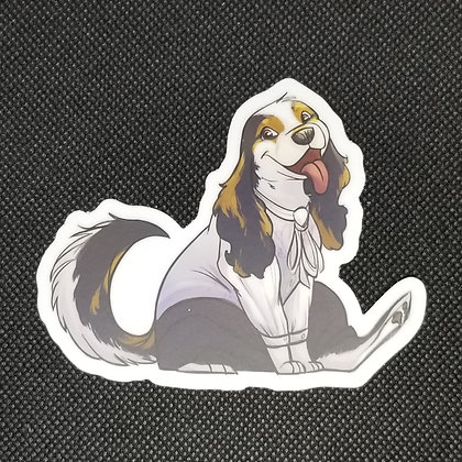 Animation Building Pup Sticker