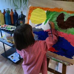 Instagram - Disfrutando #pintura #alcobendas  #niños