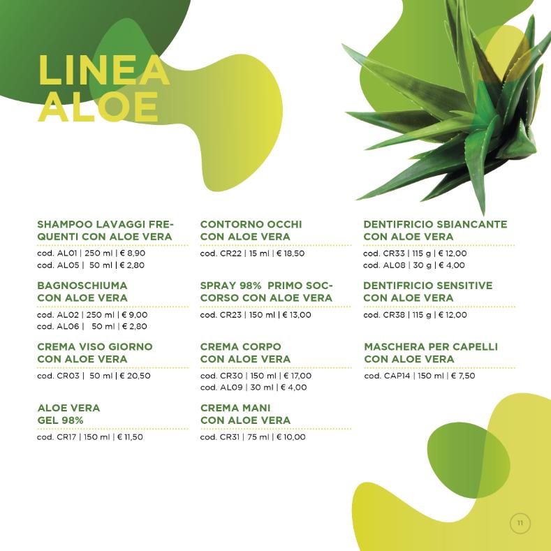 Listino Prezzi al Pubblico Aloe Vera