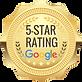 5 star google badge