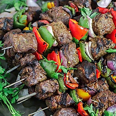 Beef Kabobs with mediterranean couscous