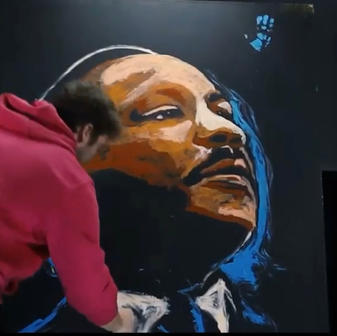 Painting MLK in Just 9 Minutes