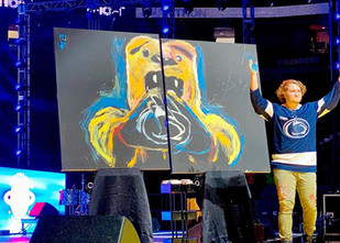 Painting The Penn State Nittany Lion in just 12 Minutes in front of 19,000 People!