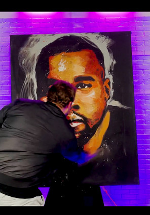 Kanye West Live Painting Video