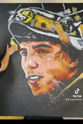 Marc Andre Fleury Live Painting