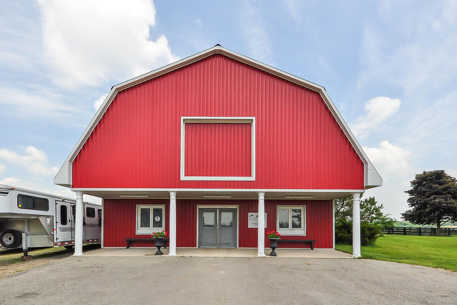 The quintessential big red barn