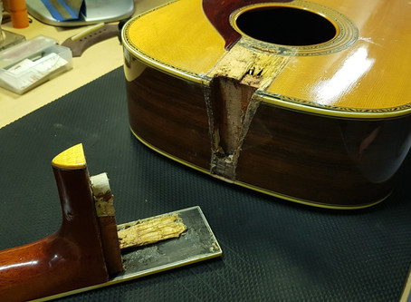 A 50 years old Yamaha - Re-glue the Critical Parts
