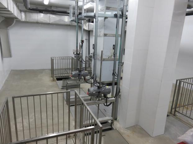 מדור המגוב (חדר תעלות כניסת הביוב) בתחנת שאיבה לביוב בשוכונות המזרחיות בראש העין