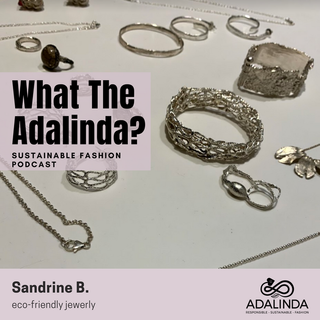 In episode 10, Kristen Pereira interview Sandrine B. The electic designs in Sandrine B.'s eco-friendly art-to-wear collections can be worn by both men and women.