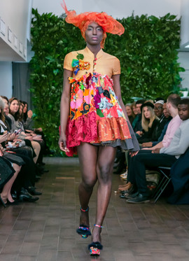 Adalinda Sustainable Fashion Runway during NYFW, Desinger MMichelle