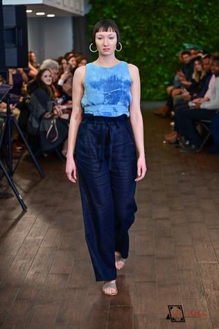 Decker Shop LA - Tie Dye Sleeveless Dress with Wide Leg Navy Pants
