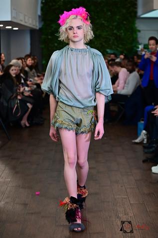 Adalinda Sustainable Fashion Runway during NYFW, Desinger MMichelle