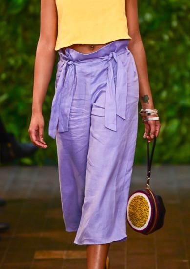 Made in America, Garment by Catlin Decker, Handbag by Marco Baga