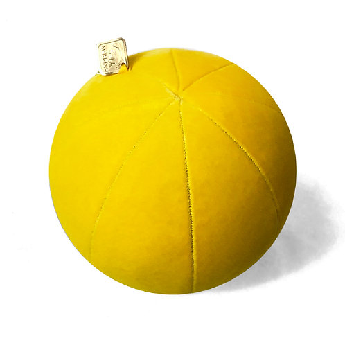 Yellow Velvet Pillow Ball