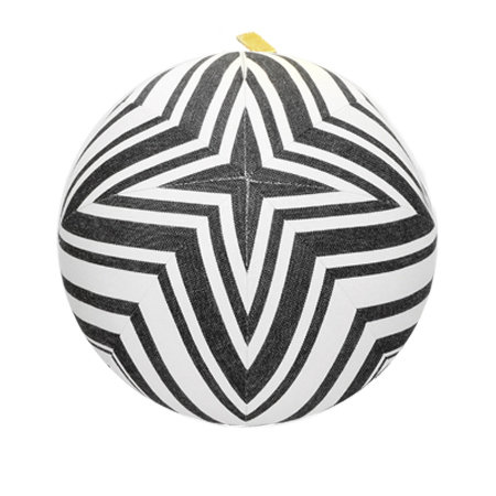 Black and White Star Pillow Ball-M