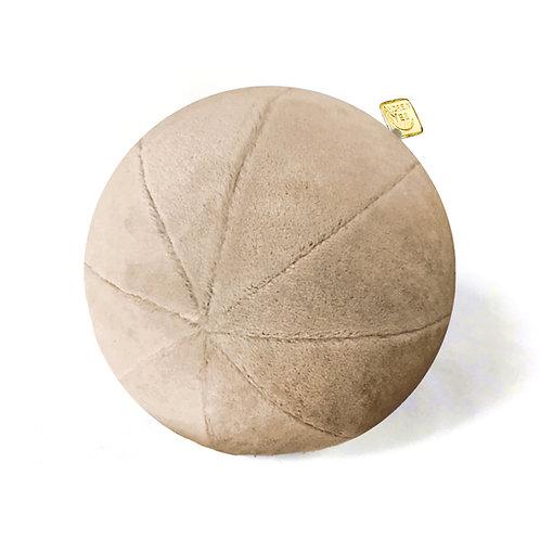 Tan Mohair Velvet Pillow Ball