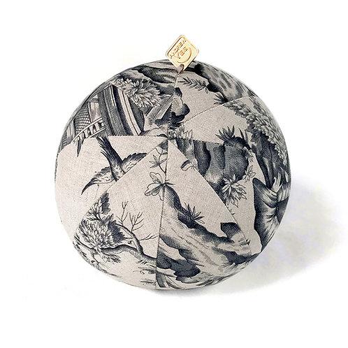 Print Grey Pillow Ball