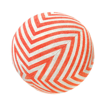 Stars & Stripes Pillow Ball / Red