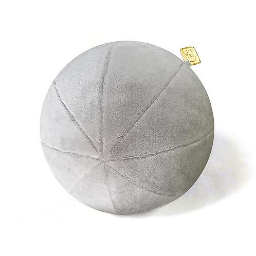 Mohair Velvet Grey Pillow Ball