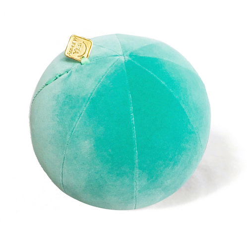 Turquoise Velvet Pillow Ball