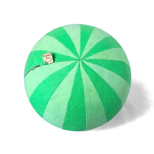 Pinwheel Neon Green Pillow Ball