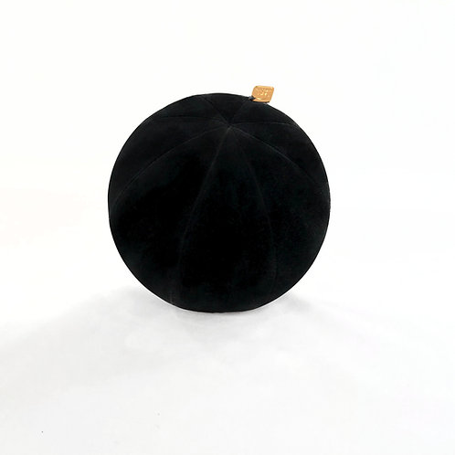 Lab Black Velvet Pillow Ball