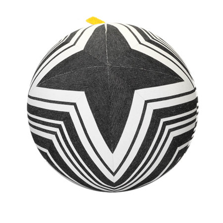 Black and White Star Pillow Ball - L