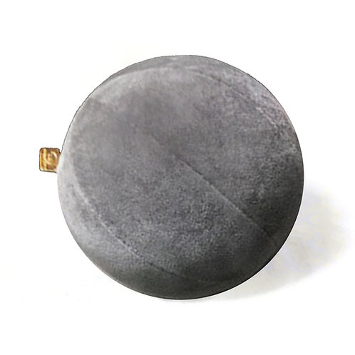 Wisdom Grey Velvet Pillow Ball