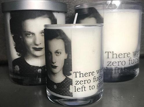 Mugshot Candle- Zero F*%ks Left
