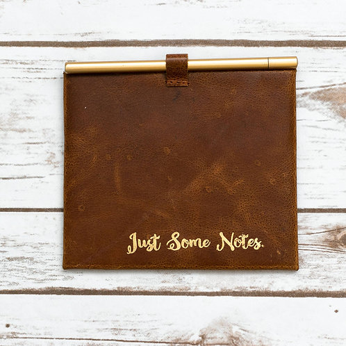 Handmade Leather Just Some Notes Envelope