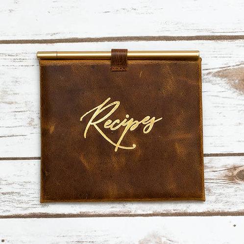 Handmade Leather Recipe Envelope
