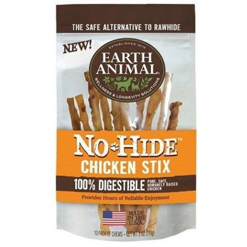 Earth Animal No Hide Chicken Stix 3oz.