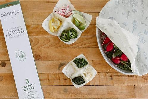 Abeego Reusable Food Wrap Trio