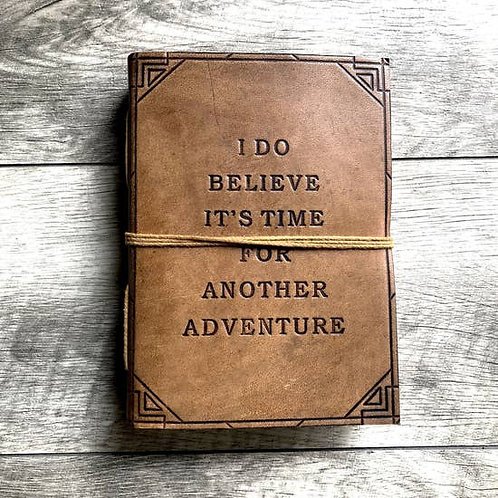 """Embossed Leather Journal- """"Another Adventure"""""""