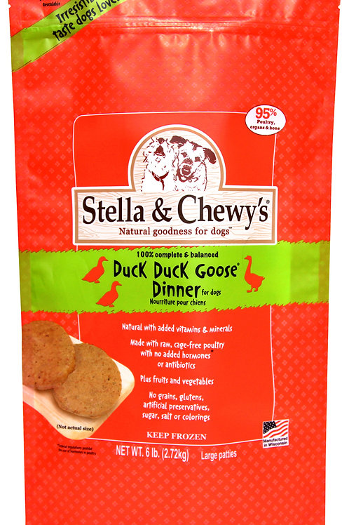Stella & Chewy's Duck Duck Goose Frozen Patties 6 lbs.