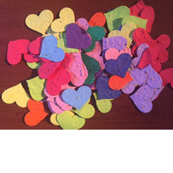 Seeded Heart Die-Cuts (25)