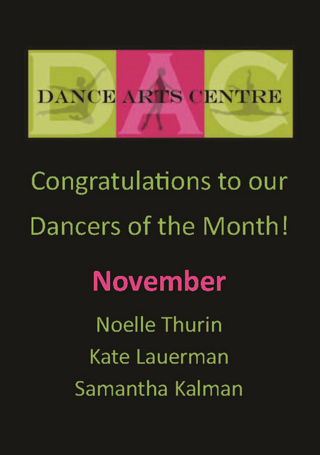 Dancers of the Month