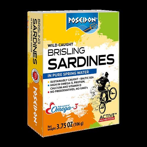Brisling Sardines in Springwater 3.75 oz. ea (case of 4 or 14)