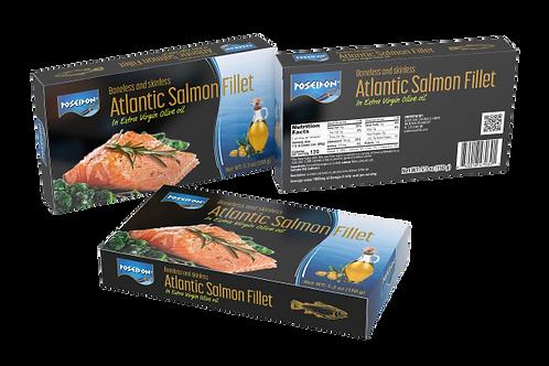 Poached Atlantic Salmon Fillet in Ex Virgin Olive Oil 6.0 oz.ea (case of 2 or 4)