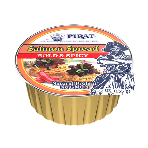 Pirat Salmon Spread - Bold and Spicy 4.75 oz. ea (case of 8 or 16)