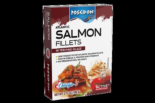 Atlantic Salmon Fillets - Teriyaki Glaze 3.75 oz. ea (case of 4 or 14)