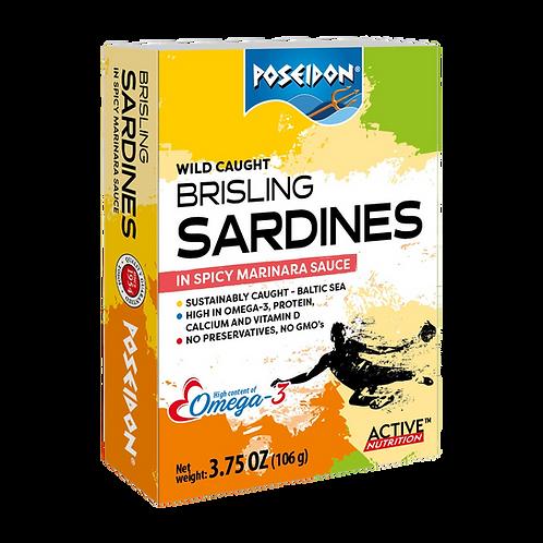 Brisling Sardines in Marinara Sauce 3.75 oz. ea (case of 4 or 14)