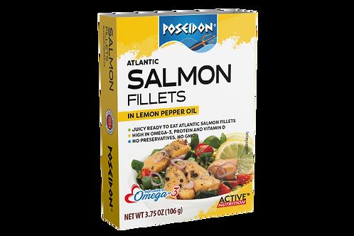 Atlantic Salmon Fillets - Lemon Pepper Oil 3.75 oz. ea (case of 4 or 14)