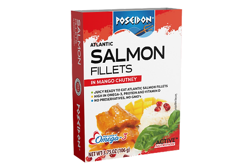 Atlantic Salmon Fillets - Mango Chutney 3.75 oz. ea (case of 4 or 14)
